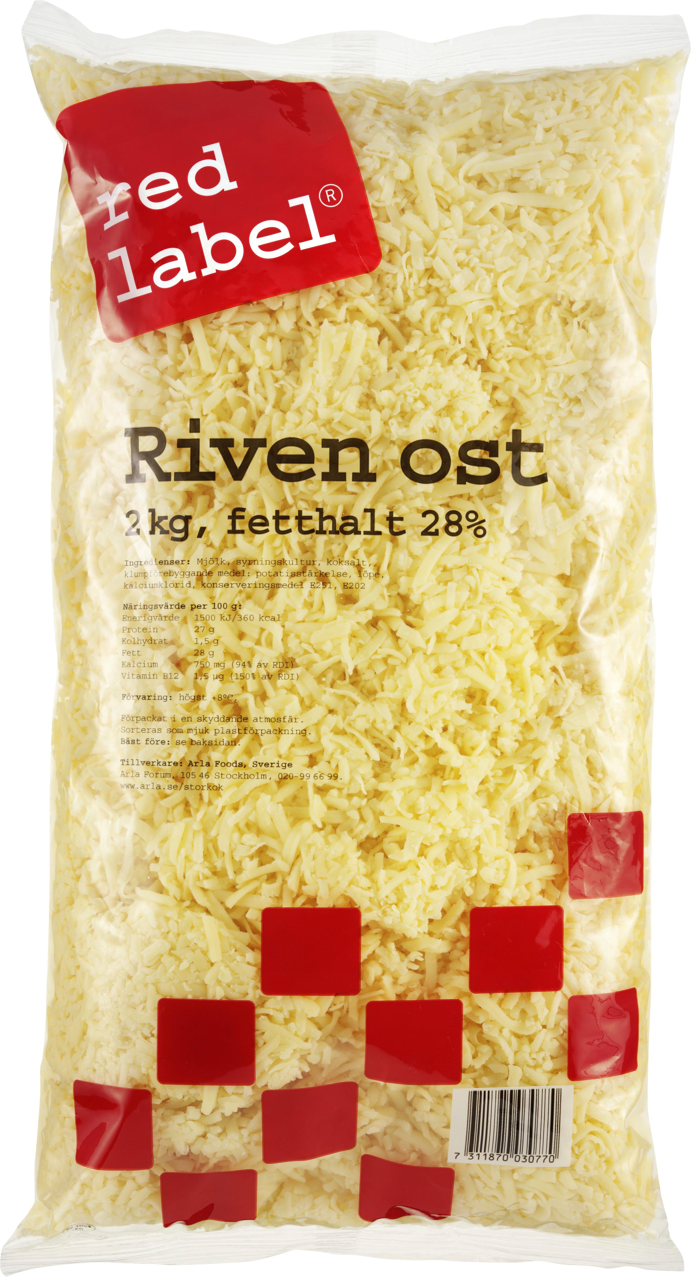 Riven ost 28%