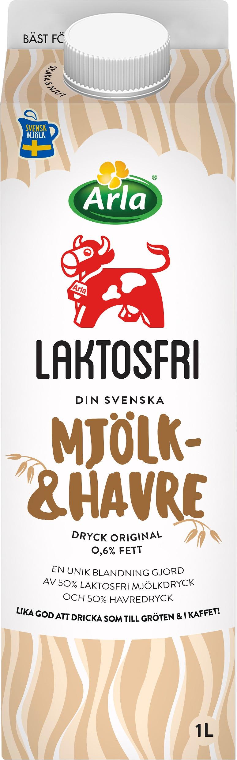 Laktosfri mjölk- & havredryck org