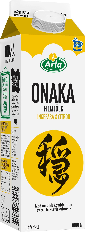Onaka filmjölk ingefära & citron